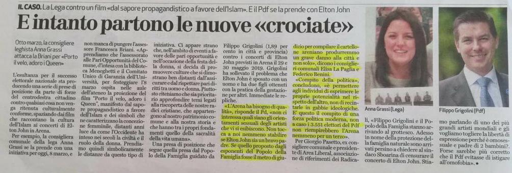 Corriere del Veneto, 8 marzo 2018