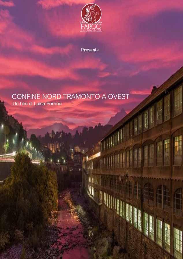 """Locandina del cortometraggio """"Confine Nord tramonto a Ovest"""""""